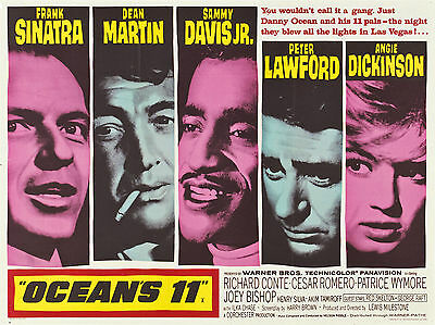 "Oceans Eleven 1960 16"" x 12"" Reproduction Movie Poster Photograph"