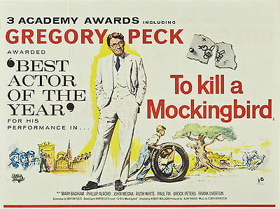 "To Kill a Mockingbird 1962 16"" x 12"" Reproduction Movie Poster Photograph"