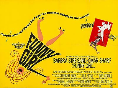 """Funny Girl 16"""" x 12"""" Reproduction Movie Poster Photograph"""