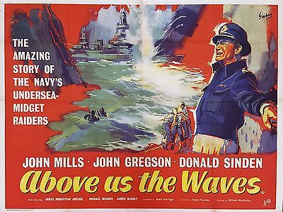 """Above us the Waves 16"""" x 12"""" Reproduction Movie Poster Photograph"""