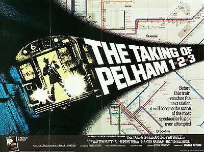 """The Taking of Pelham 123 1974 16"""" x 12"""" Reproduction Movie Poster Photograph"""