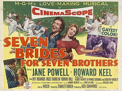 """Seven Brides for 7 Brothers 1954 16"""" x 12"""" Reproduction Movie Poster Photograph"""