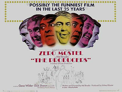 """The Producers 16"""" x 12"""" Reproduction Movie Poster Photograph"""