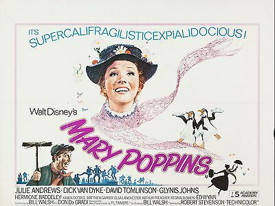 """Mary Poppins 16"""" x 12"""" Reproduction Movie Poster Photograph 3"""