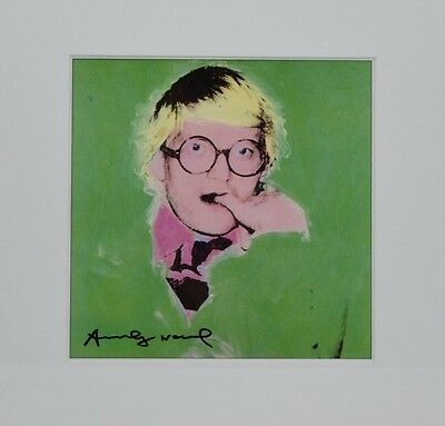 Andy Warhol signed Offset Lithograph, Portrait of David Hockney