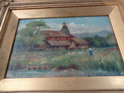 Oil Painting By Known Artist N McCarthy More landscpe in kent