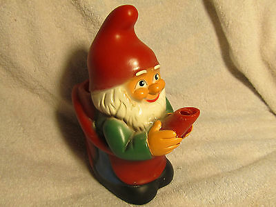 Vtg W West Germany Zeho Plastic Garden Gnome Watering Can Pitcher