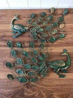 peacock metal wall art B5