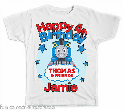 Personalized Thomas The Train Birthday T-Shirt