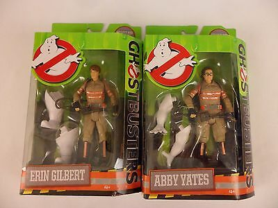New Lot Of 2 Mattel Ghostbusters Action Figures Erin Gilbert Abby Yates 2016 Nip