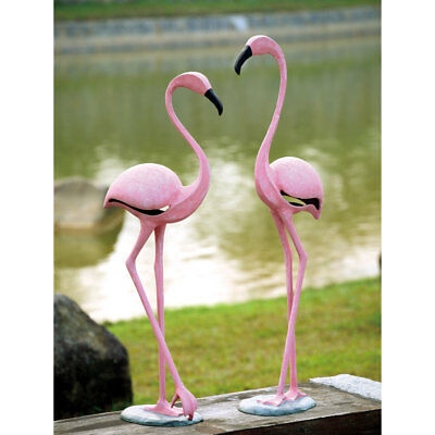 Aluminum Pink Flamingo Pair
