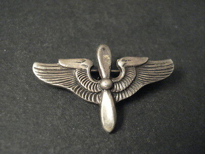 VINTAGE Navajo EAGLE IN ABSTRACT FORMATION Silver Pin Old