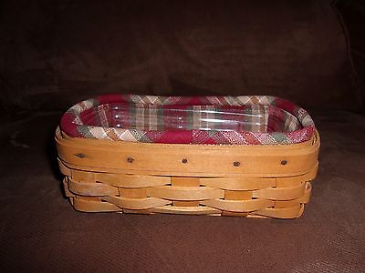 Longaberger 1999 Biscuit Basket Set - Orchard Park Plaid