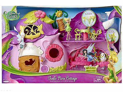 Disney Fairies Tinkerbell Tinks Ultimate Fairy Pixie Cottage Rare Playset *new*
