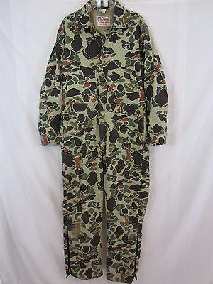 Men's WALLS Blizzard Pruf Insulated Work Jumpsuit CAMO Coveralls Size Large USA