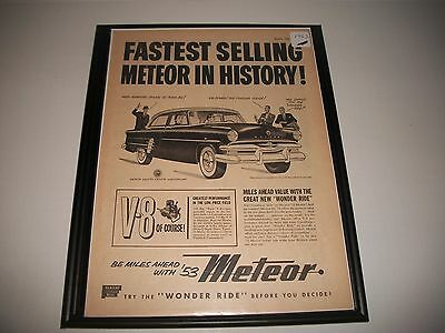 1953 Meteor Customline Canadian Only Original Vintage Print Ad Art Collectible