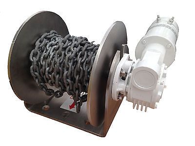 Free Fall Electric Drum Anchor Winch Muir DFF08 with Rope Chain