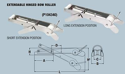 MAXWELL Extendable Self-Launching Hinged Bow roller   P104340