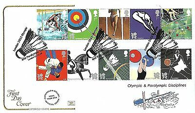 Gb 2009 London 2012 Olympics Set (22Oct) On Cotswold Official Fdc