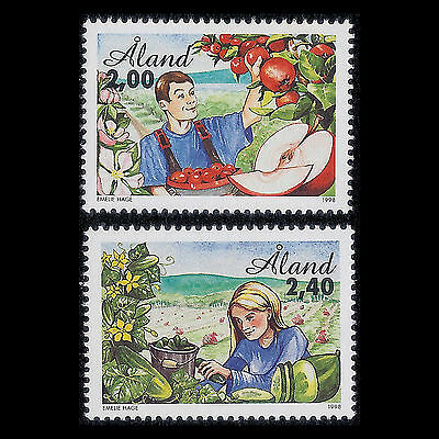 Aland 1998 - Agriculture Fruits Foot - Sc 138/9 MNH