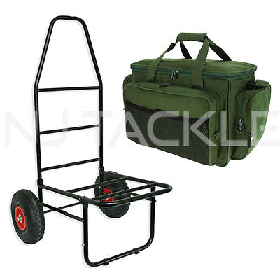 NEW NGT Heavy Duty Folding Fishing Trolley & New Improved Insulated NGT Carryall