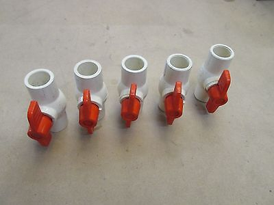 "Lot of 5 - Generic 3/4"" Slip x Slip CPVC CTS Ball Valve *Hot*"