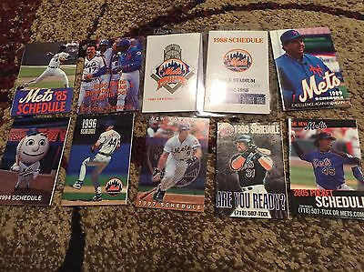 8  Different New York Mets Baseball Pocket Schedules 1986 World Champions