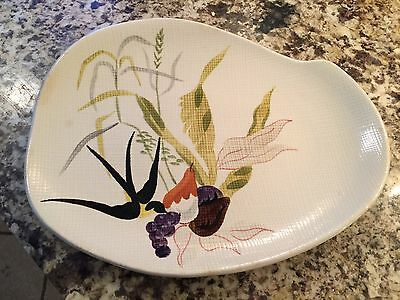 Redwing Hand Painted Kidney Shaped Platter 244