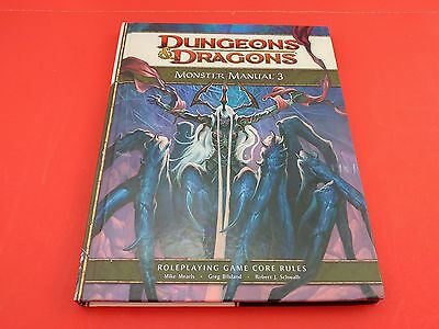 DUNGEONS & DRAGONS MONSTER MANUAL 3 - Roleplaying Game Book D&D 4th Ed