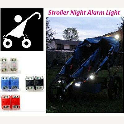 Silicone Caution Bicycle Light Frog Lamp Night Out Baby Stroller Safety
