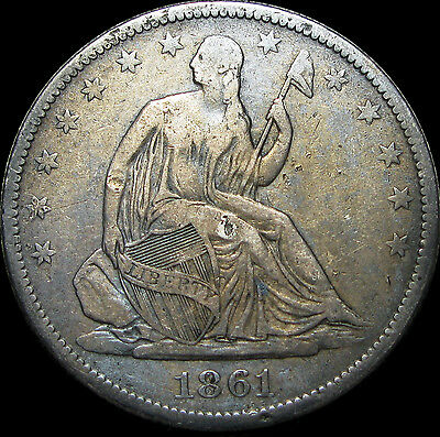1861-O Seated Liberty Half Dollar ---- STUNNING DETAILS ---- #D340