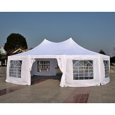 Outsunny 10 Sides Heavy Duty Tent Gazebo Outdoor Party Wedding Event Marquee