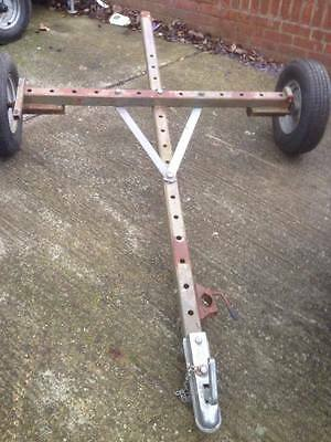 trailer chassis and wheels 7ft 4 long x 4ft 6 wide