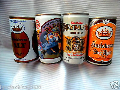Vintage BEER CANS Lot of 4!