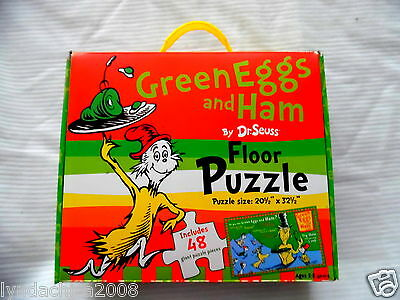 LARGE Green Eggs And Ham Floor Puzzle By Dr. Seuss (48 PIECES)