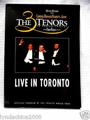 The 3 Tenors in Concert 1996/97 LIVE IN TORONTO Official World Tour Program Book