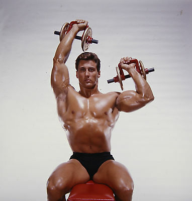 Frank Zane, 3 Time Mr.olympia Bodybuilder, 70 Color Transparency By Jimmy Caruso