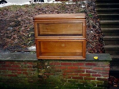 Antique Oak Macey 912  Stacking Barrister Sectional bookcase 2 Sections & top