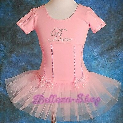 Rhinestone Ballet Tutu Dancewear Fairy Fancy Dress Leotard Girl Size 2T-7 BA013