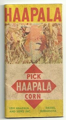 Haapala Corn Seed 1960 Book