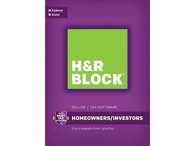 H&R Block Tax Software  Deluxe + State 2016 Homeowners/ Investors