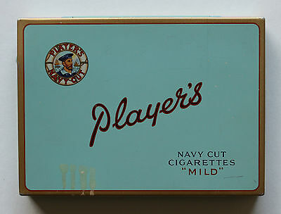 """Player's Navy Cut Cigarettes """"mild"""" Tin Case By Imperial Tobacco Montreal Canada"""