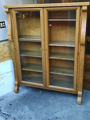 antique quartersawn oak bookcase 2 Door