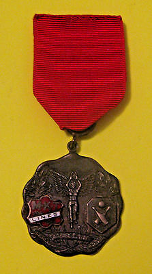 Rare Antique 1930 Missouri Kansas Texas Railroad Bowling Competition Medal