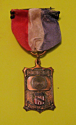 Rare Antique 1930 Union Pacific Railroad Ladies Rifle Competition Medal ~ Ogden