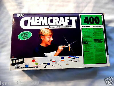 Vintage CHEMCRAFT 400 Chemistry Experiments Model Kit By Ideal 1987