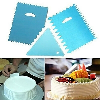 Plain Edge Cake Decorating Side Scraper Buttercream Icing Smoother Mixed 3 Model