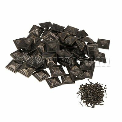 100 Pieces Bronze Iron Upholstery Nails Tacks Studs Furniture Pins Square Head