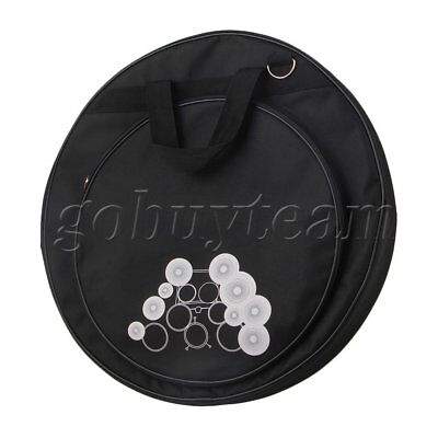 Black Round Shape 21.3 Inch 600D Oxford Cloth Double Pocket Cymbal Bag
