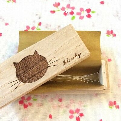 Cat Whiskers Case / Wooden box for storing pet hair / paulownia NEW From Japan